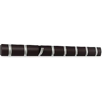 Wokex Flip 8 Garderobenhaken – Moderne, Schlichte und Platzsparende Garderobenleiste mit 8