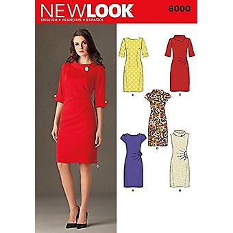 New Look Sewing Pattern 6000 Misses Ladies Dresses Size A (4-6-8-10-12-14-16)