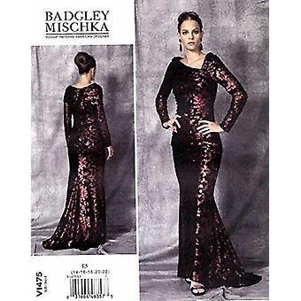 Vogue Naaipatronen 1475 Misses Gevoerde Jurk Avond Maat 14-22 A5