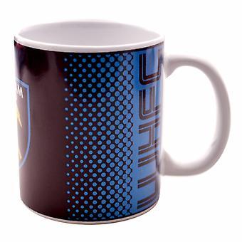 West Ham United FC Official Fade Crest Design Ceramic Mug