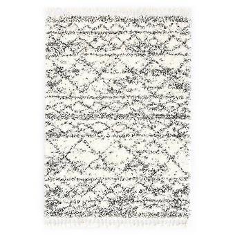 vidaXL Berber carpet High pile PP Beige and sand paints 120 × 170 cm