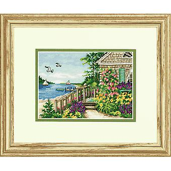 Afmetingen Gold Petite: Counted Cross Stitch: Bayside Cottage