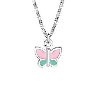 Elli 0104991017_36 - Kinderketting met vlindervormige hanger, zilver 925 geëmailleerd, 36 cm