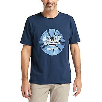 Pioneer T-Shirt Crew Neck, Blue (Navy Blue 500), L Man