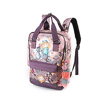 Forever Ninette Ninette Bicycle-Fun Rucksack Casual Backpack, 41 cm, 20 liters, Multicolor (Multicolour)