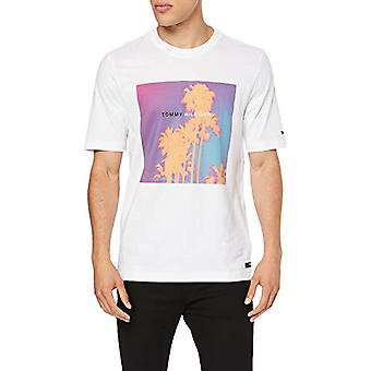 Tommy Hilfiger Tomorrow Relax Fit T-Shirt, Weiß (Bright White 100), Large Men