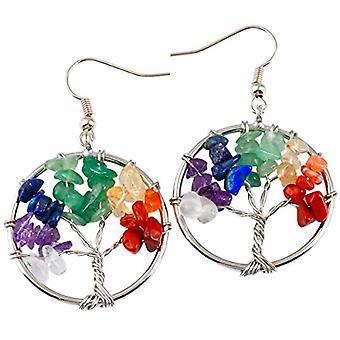 kyeygwo Hand-held tree of life, earrings for woman thread chandeliers stone Chakra Reiki healing crystal hanging energy Ref. 0635946999097