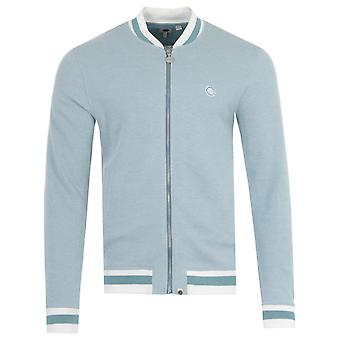 Pretty Green Oxford Track Bomber Sweatshirt - Blue