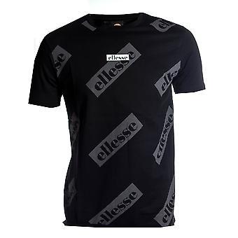 Ellesse Heritage Sete Мужская ретро-мода Футболка Футболка Tee Черный