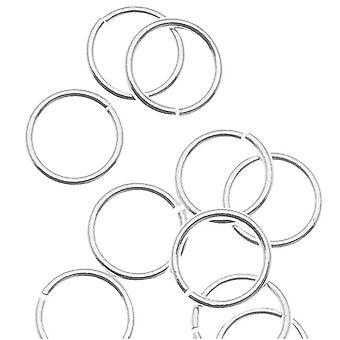 Sølvfyldte åbne hopperinge 6 mm 22 gauge (24)