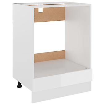 vidaXL kachelombouwkast hoogglans wit 60x46x81,5 cm spaanplaat