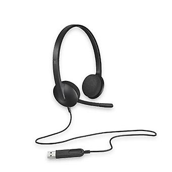 Logitech H340 Plug And Play Usb Headset Noise Cancelling Microphone