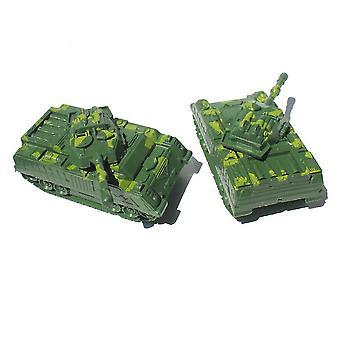 New 2pcs Mini Tank Model Set No Wheel Military Simulation Toys For Kids ES12826