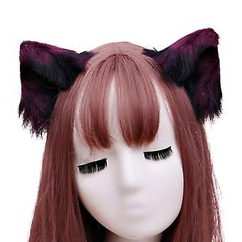 Fourrure Animal Bête Oreilles Hair Clip Anime Lolita Loup Chat Cosplay Épingles à cheveux X7ya
