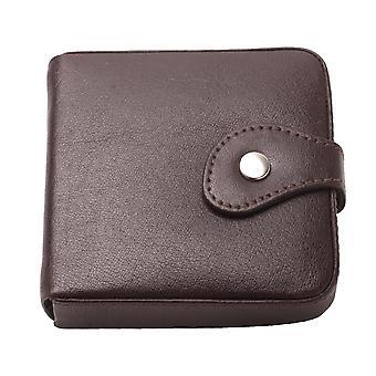 Mannen volledig gevoerde lederen lade portemonnee met notitie sectie