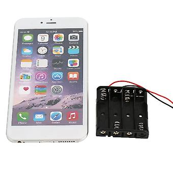 Plastic Battery Storage Case Box Holder For 4-aaa Battery With Wire Leads