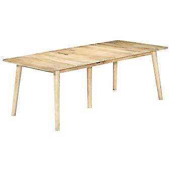 vidaXL طاولة الطعام 220 × 100 × 76 سم المانجو الخشب الصلب