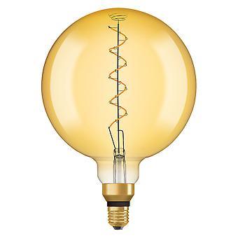 Osram LV092013 1906 LED 28W Vintage Spiral Filament Gold Glass Large Globe ES Bulb