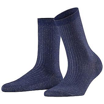 Falke glanzende rib sokken-koningsblauw