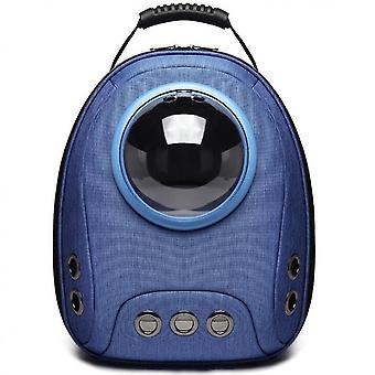Deluxe Cat Backpack Carrier|pet Carrier Backpack For Small Cats Travel, Hiking(Dark Blue)