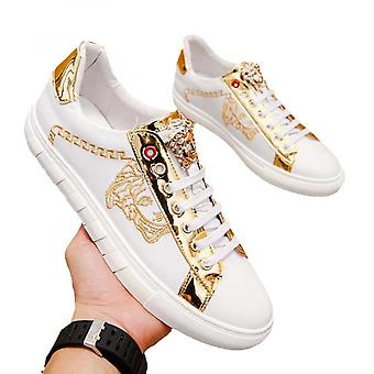 Men's Shoes Real Leather Breathable Korean Version Of Small White Shoes Color Casual Board Shoes