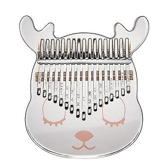 Kalimba Thumb Piano 21 Keys Cartoon Deer Acrylic Mini Portable Musical Instrument For Kids