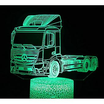 3d Touch Light Night Light Kids 7-ribbon Remote Control-engineering Vehicle