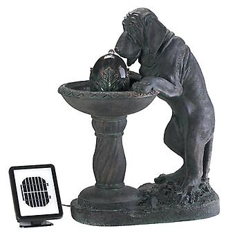 Cascading Fountains Thirsty Dog Garden Fountain - Solar or Cord Power, Pack of 1
