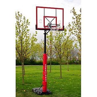 यकीन है कि गोली मार दी बास्केटबॉल जल्दी पोर्टेबल इकाई के साथ एक्रेलिक बैकबोर्ड और ध्रुव पैडिंग