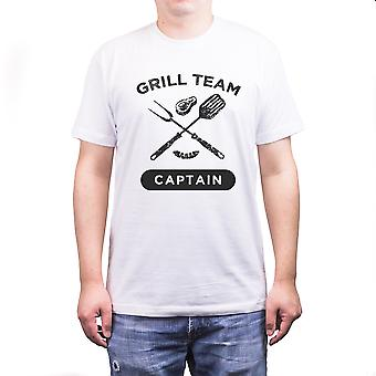 Grill Team Captain Funny White T-Shirt For Dad Great Farthers Day Gift