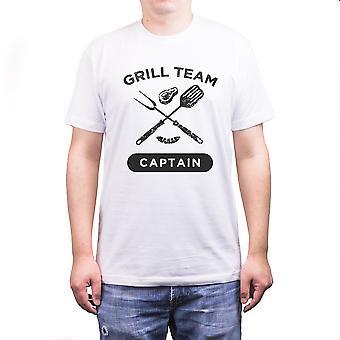 Grill teamcaptain grappig wit T-Shirt papa grote Farthers de Gift van de dag