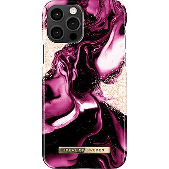 Coque iDeal Of Sweden iPhone 13 Pro - Marbre Rubis d'Or