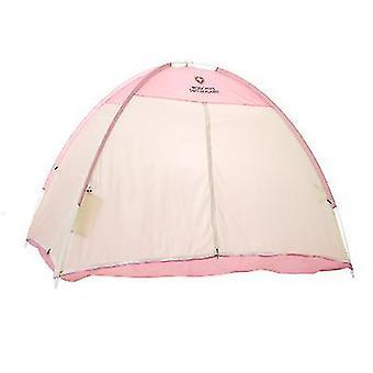 Indoor Adult Pat pentru copii Cort cald și windproof cort dublu pat de iarnă cort (roz)