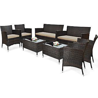 Coffee Table Set Cushioned Sofa Chair