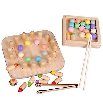 Kinder Regenbogen Gedächtnis Schach Holz Spielzeug Logisches Denken Training Kinder Farberkennung