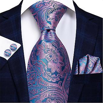 Cravatta italiana hi-tie 100% set cravatta da uomo in seta, 8,5 cm (C-3064)