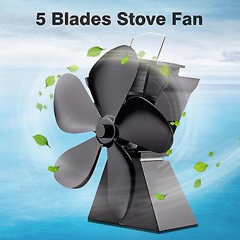 Premium 5 terää lämpökäyttöinen liesi tuuletin polttoaine säästää kiinteä alumiini liesi tuuletin