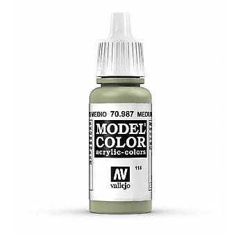 Vallejo Model Color 17ml Acrylic Paint - 987 Medium Grey