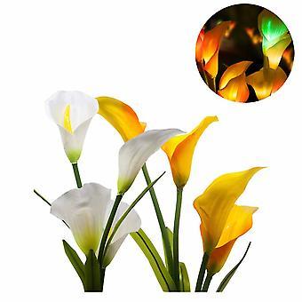 Solar Calla Lily Lichter Bunte Led Simulation Laterne Outdoor Dekoration Rasen Licht Plug-in Garten Laterne