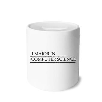 Zitat I Major in Informatik Drucken Keramik Sparschwein