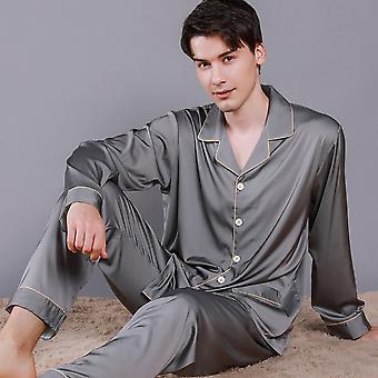 Pánske Letné ľadové hodvábne spacia bielizeň Tenké priedušné pyžamové súpravy Ed