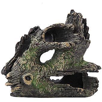 אקווריום קישוט שרף מלאכותי שרף אצות אלמוגים צף טחב אבן עץ בית קישוט בית גידול טבעי עבור אדמות מיכל דגים ימיות