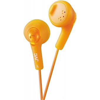 JVC Gumy Bass Boost stereohoofdtelefoon voor iPod iPhone MP3 en Smartphone - Valencia Orange