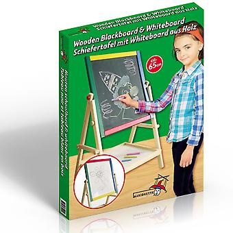 2 en 1 en bois Blackboard & Tableau blanc avec support for Kids & Dessin Rédaction
