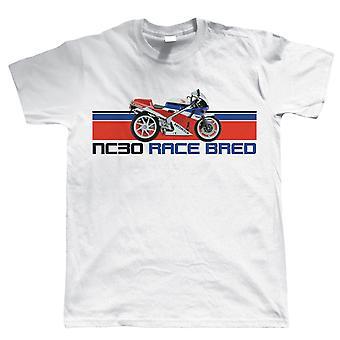 NC30 Race Bred, Mens Biker T Shirt
