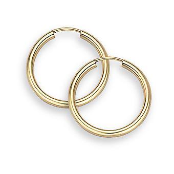 14K Gold Hoop Earrings - 9/16