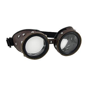 Bezaaid bruine laag profiel volwassen Steampunk bril