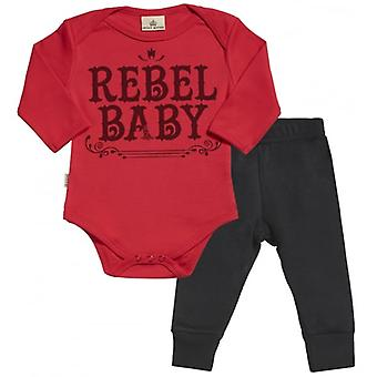 Spoilt Rotten Rebel Baby Babygrow & Baby Jersey Trousers Outfit Set