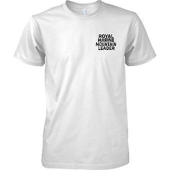 Royal Marine Mountain leder - tekst - barna brystet Design t-skjorte