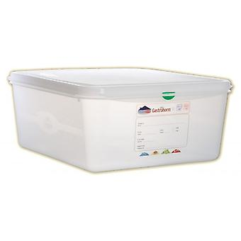 PROESSIONAL COLOUR CODED STORAGE CONTAINER GN 2/3 CAPACITY 13.5LTR